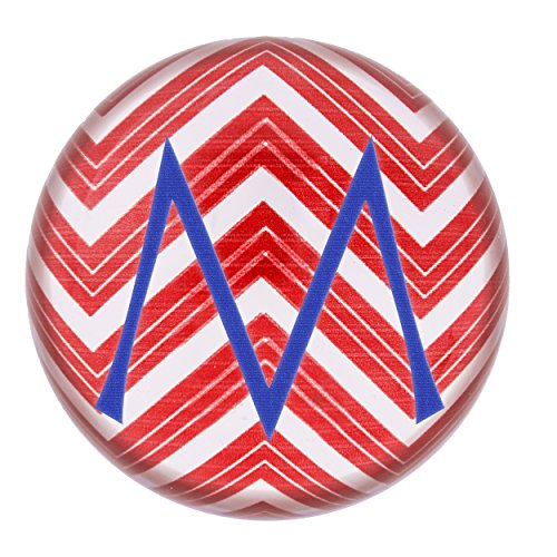 Concepts Table Cathys Decoration (Cathy's Concepts Personalized Chevron Domed Glass Paperweight, Letter M, Red/White/Blue)