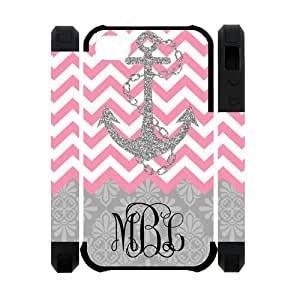 Zig Zag Pink Chevron Gray Anchor Gray Retro Pattern Personalized Custom Phone Case Zig Zag Best Cover Case For Iphone 4/4S by icecream design