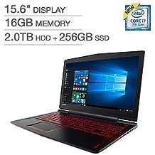 "Lenovo Legion Y520 Gaming Laptop - Core i7-7700HQ, 16GB RAM, 2TB HDD + 256GB SSD, 1050Ti 4GB, 15.6"" Full HD"