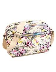WEESDON Women's Fashion Printing Flowers Shoulder/Cross-body Mini Cube Bag