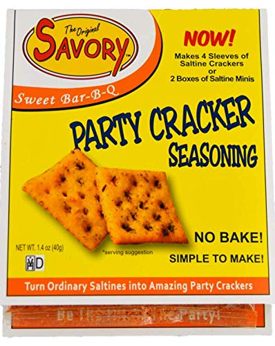 Savory Saltine Seasoning, 1.4 Ounce, Sweet Bar-B-Q, 4 ()