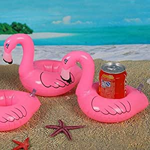 Flamingo Drink Can Inflatable Swimming Pool Beach Bathing Can Holder