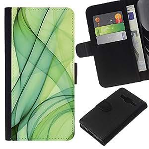 EJOY---La carpeta del tirón la caja de cuero de alta calidad de la PU Caso protector / Samsung Galaxy Core Prime / --Verde Fuma