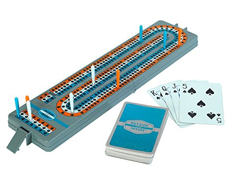 GSI Outdoors Travel Cribbage Board Outside Inside (9 Piece), Gray, 12.75'' by 3.15'' by .75'' (Open) by GSI Outdoors