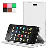 Exact Samsung Galaxy S5 Active Case [BillFOLD Series] - Premium PU Leather Wallet Case for Samsung Galaxy S5 Active (for SM-G870A Water and Shock Resistant Model) White