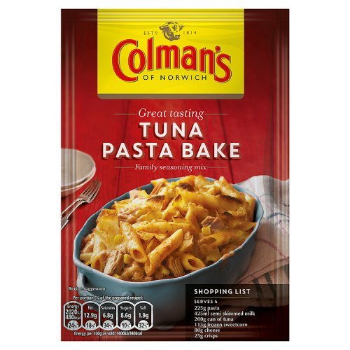 Original Colman's Tuna Pasta Bake Recipe Mix Imported From The UK England The Best British Recipe Mix (The Best Tuna Pasta Bake)