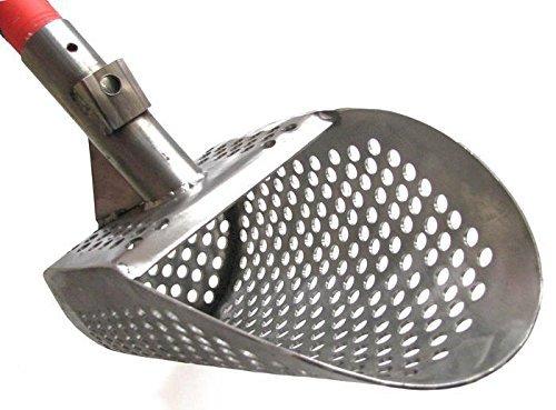 Scoop Shell (Beach Sand Scoop KREPISH Stainless Metal Detector Hunting Water Detecting Hunting Tool + Handle)