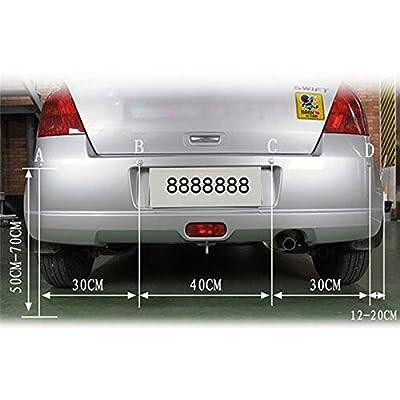 Tiemahun LED Parking Sensors Car Auto Vehicle Reverse Backup Radar System, Sound Warning, Water resistant anti-freeze, 22MM Diameter Sensor 2.3M Cable