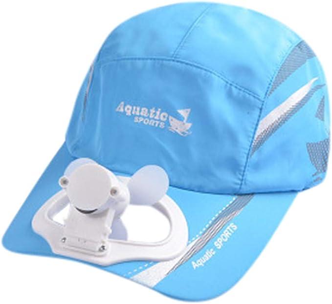 Gorra de béisbol de bloatboy, con USB de carga y ventilador, para ...