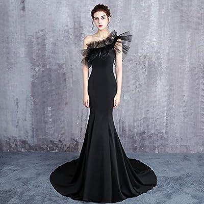 Vestidos De Boda De La Sirena del Color Negro De Las Mujeres Vestidos del Baile De Fin De Curso del Cóctel De La Tarde del Cortocircuito del Satén Hecho A ...