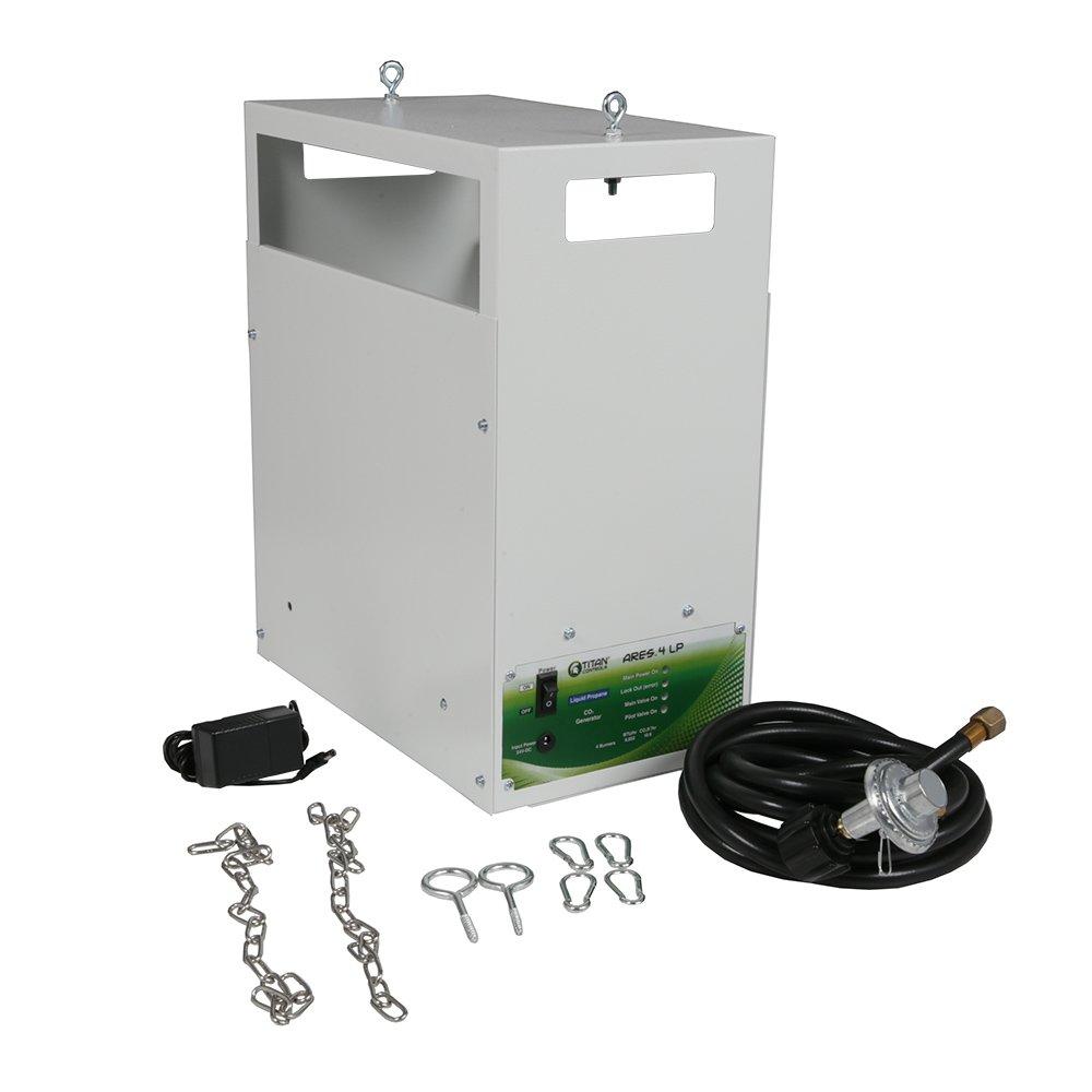 Titan Controls 4-Burner Carbon Dioxide (CO2) Generator, Liquid Propane, 120V - Ares 4