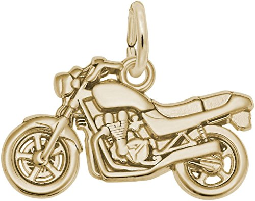 Rembrandt Motorcycle Charm - Metal - 14K Yellow Gold