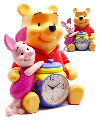 Disney Winnie The Pooh & Piglet 12 Talking Alarm Clock & Bank by Triple Store