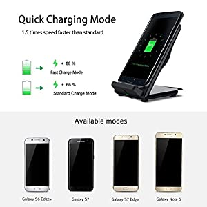 Fast Wireless Charger,Stand up Wireless Charger QI Fast Wireless Charging Pad Stand station dock for Samsung Galaxy S8 Plus S7 Edge Note 5 S6 Edge