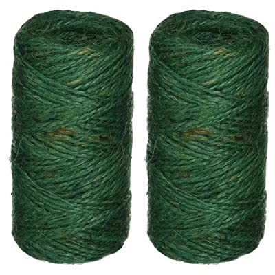 Bond Green Jute Garden Indoor and Outdoor Twine 200 Feet Per Roll No 337 (2 Pack): Garden & Outdoor