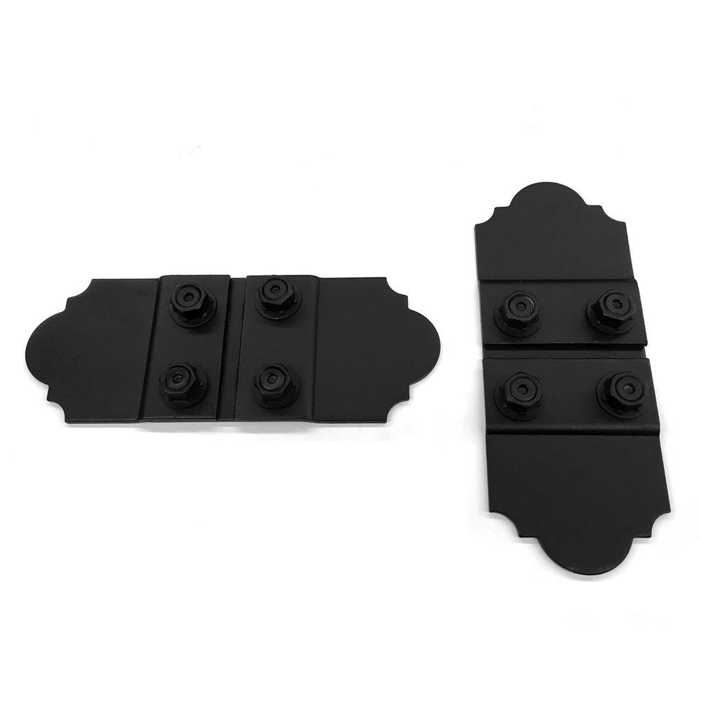Wood Connector 5 in. Galv. Steel With Laredo Sunset Truss Accent Plates (2 sets per box) Black