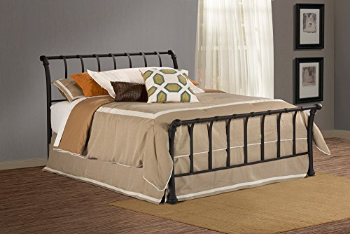 Hillsdale Janis Metal Sleigh Bed with Flat Strap Spindles,