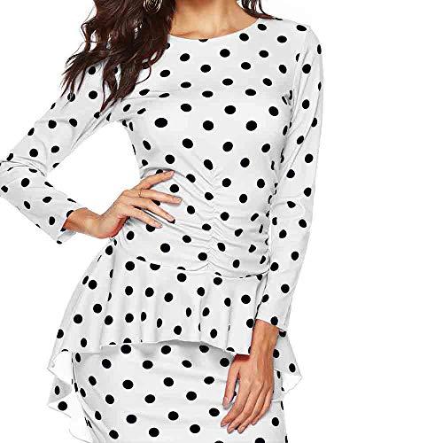Women Dress Ladies Sexy Polka Dot Print Long