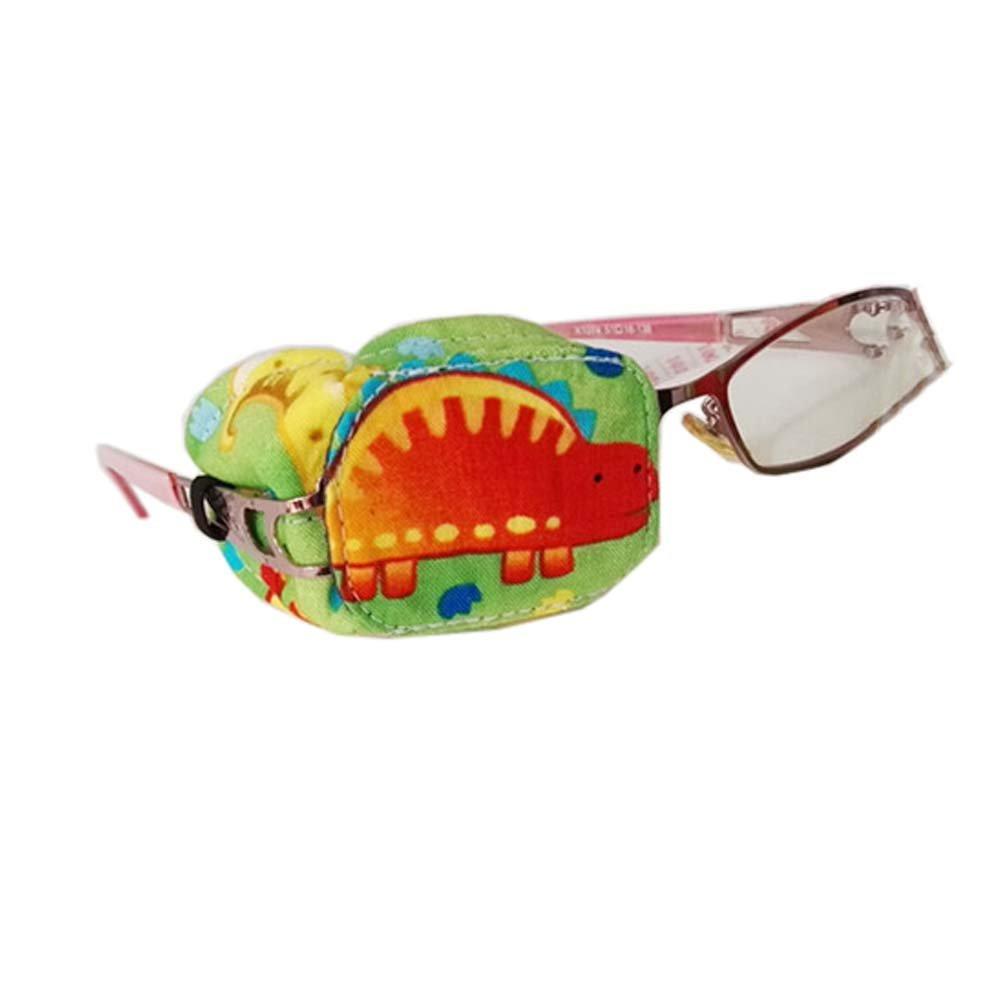 Fancy Pumpkin Creative Dinosaur Eye Patch Einzel Brille Cover Amblyopie Behandlung f/ür Kinder