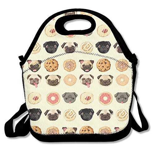 (Pugs Donuts Cookies Humor Lunch Bag)