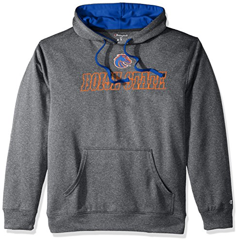 Champion (CHAFK) NCAA Boise State Broncos Adult Men Pullover Hood with Contra, X-Large, (Broncos Ncaa Applique)