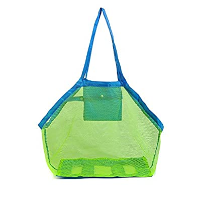 Youndcc Beach Bag,Extra large Sand Away Beach Shell Storage Mesh Bag,For Kid's Toys Storage Foldable Bag