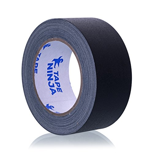 Professional Risk (Professional Grade Gaffer Tape by Tape Ninja - Made in the USA - Black 2 Inch X 30 Yards - Heavy Duty Real Gaffer's Tape - Non-Reflective - Waterproof - Order Risk Free - Better than Duct Tape!)
