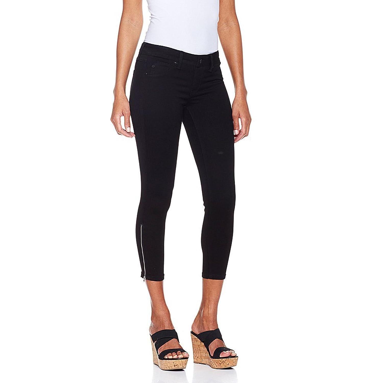 Hot in Hollywood MEGASTRETCH Ankle-Zip Capri - 324404, Black 3X