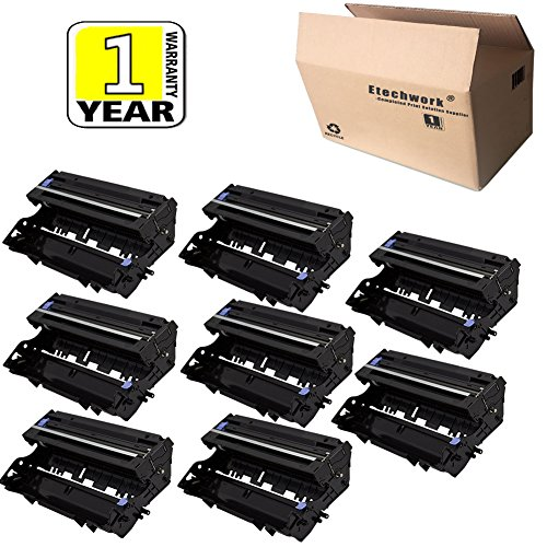 Etechwork DR400 Drum Unit 8 Pack Compatible for Brother DCP-1200 DCP-1400 MFC-8300 MFC-8500 MFC-8600 MFC-9600 MFC-9700 HL-1230 HL-1240 HL-1250 HL-1440 IntelliFax-4100 by Etechwork