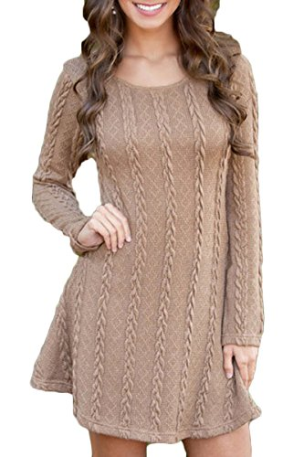 fine knit jumper dress - 7