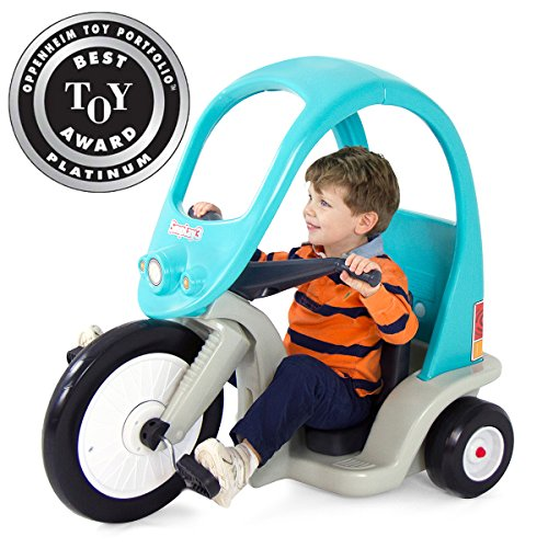 Simplay3 Kids Super Coupe Pedal Car w/ Roof and 3-Position Seat