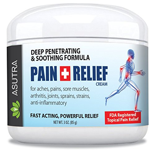 ASUTRA Pain Relief Cream + Pain Relief Roll-on, ULTRA STRENGTH Arnica + MSM + B6 Formula/INSTANT SOOTHING RELIEF/Fast Acting Anti-Inflammatory, Relieves Sore Muscles,Aches,Pains - Lg 3oz (Pain Anti Inflammatory Reliever)