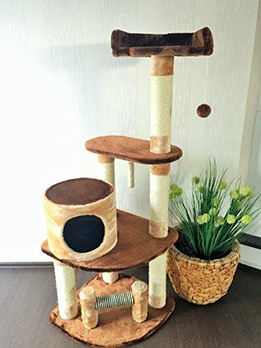 """Lemio - Árbol para gato """"Holey"""" rascador para gatos (marrón - beige)"""