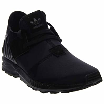 adidas ZX Flux Plus Mens in Black/Black in, 12