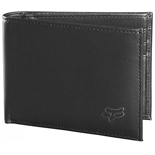 Fox Racing Bifold Leather Wallet (BLACK) by Fox Racing