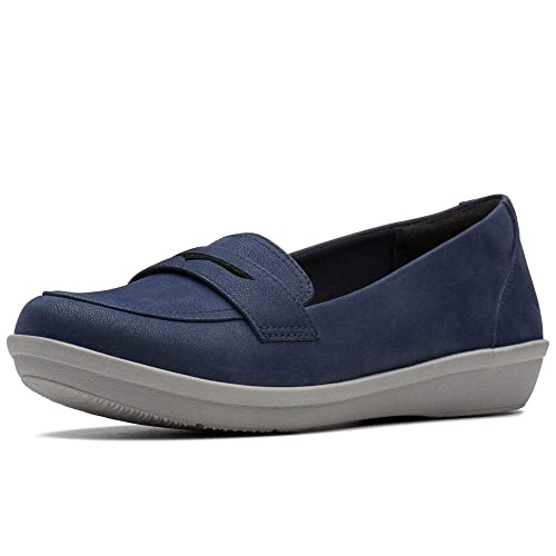 732dbcfdd61 Clarks Ayla Form Womens Wide Fit Shoes 5 Navy  Amazon.co.uk  Shoes   Bags