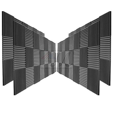 96 Pack Acoustic Panels Studio Foam Wedges 2