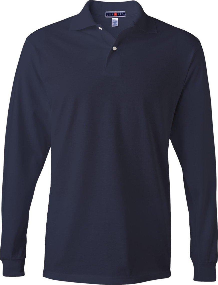 Jerzees Men's Long-Sleeve Jersey Polo 437ML