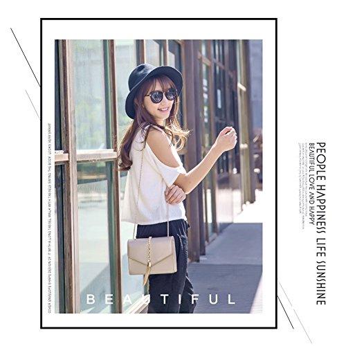 Yoome Pure Color Flap Bolsa Retro Tassel Envelope Bolsas Para Mujer De Cuero De Cadena Bolsas Para Las Niñas - Oro Oro