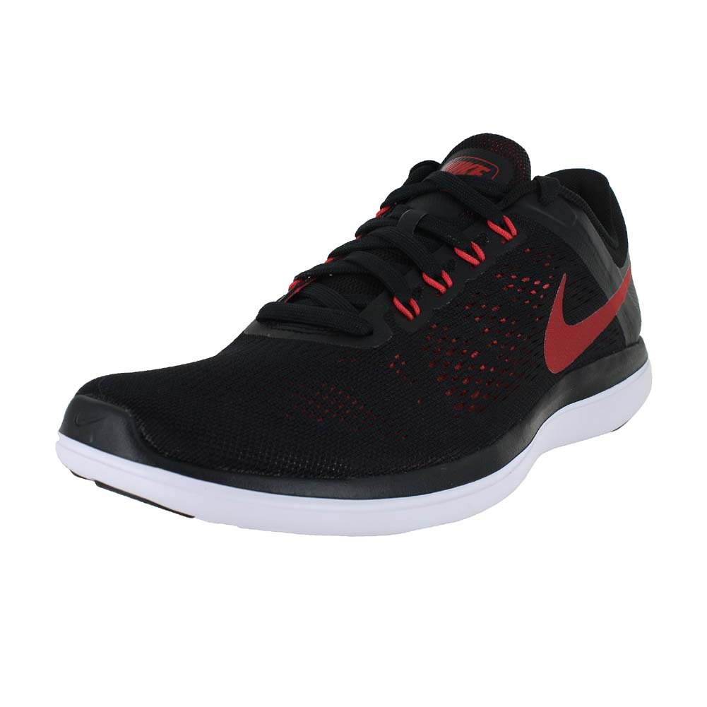 7e4ddeb4b24f3 NIKE Mens Flex 2016 RN Running Shoe Black University Red Ember Glow White 10.  5  Buy Online at Low Prices in India - Amazon.in