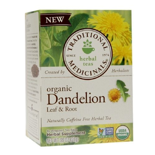 Traditional Medicinals Dandelion Leaf & Root Herbal Teas 16 Ea (Pack of 12)