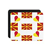 Macedonia Country Flag Heart Computer Laptop Mouse Pad