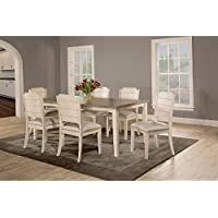 Clarion Seven (7) Piece Rectangle Dining Set with Side Chairs - Sea White