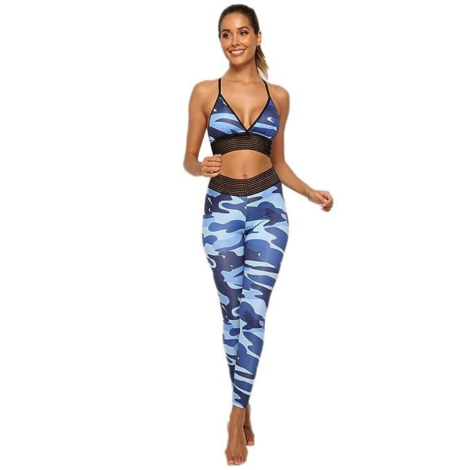 Conjunto Ropa Deporte de Yoga, Verano Camuflaje Imprimiendo ...