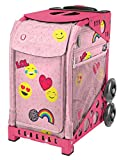 Zuca ''Emoji Love'' Limited Edition Sport Insert Bag and Pink Frame with Flashing Wheels