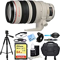 Canon EF 28-300mm IS L USM Lens w/ Deluxe Accessory Bundle includes Lens, 64GB SDXC Memory Card, Tripod, 77mm Filter Kit, Lens Hood, Bag, Cleaning Kit, Beach Camera Cloth and More