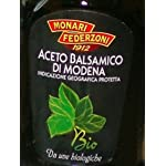 """Monari Federzoni: """"Aceto Balsamico di Modena IGP BIO"""" Balsamic Vinegar from Modena Organic 17 Fluid Ounces Glass Bottle [ Italian Import ] 6 Balsamic Vinegar from Modena, PGI (Protected Geographical Indication) Great to enhance the flavor of vegetables, meat or fish Delicious on fresh fruit and ice cream, or for everyday dressing"""