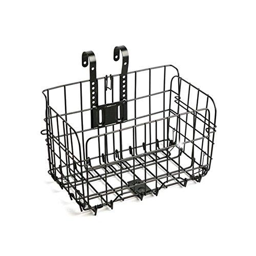 Hetesupply Universal Bike Basket Front Real Storage Mountain Bicycle Folding Baskets for Women Men Adults Teenagers
