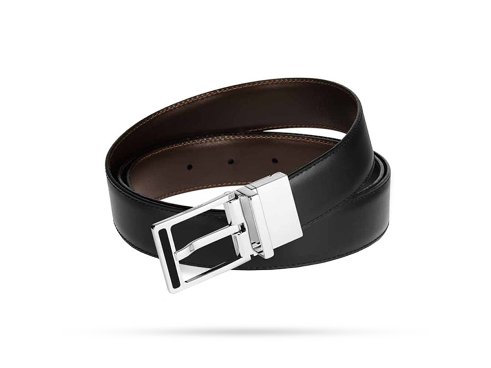 S.T. Dupont 9450120 Business Chic Reversible Buckle Black/Brown Belt