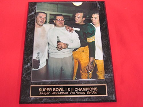 Bart Starr Paul Hornung Jim Taylor Vince Lombardi Packers Collector Plaque w/8x10 VINTAGE Color Photo Bart Starr Memorabilia